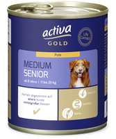 activa GOLD Nassnahrung Hund Medium Senior Pute