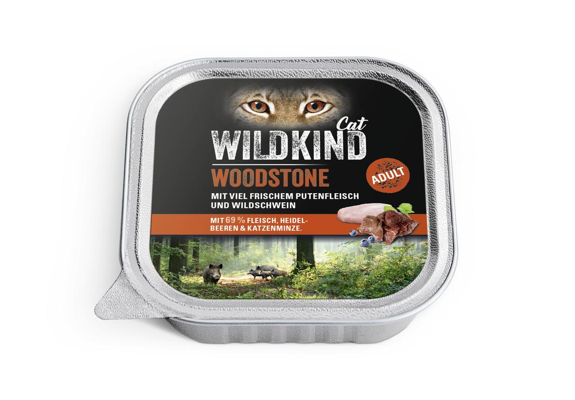 WILDKIND Katze Nassnahrung Adult Woodstone Pute Wildschwein