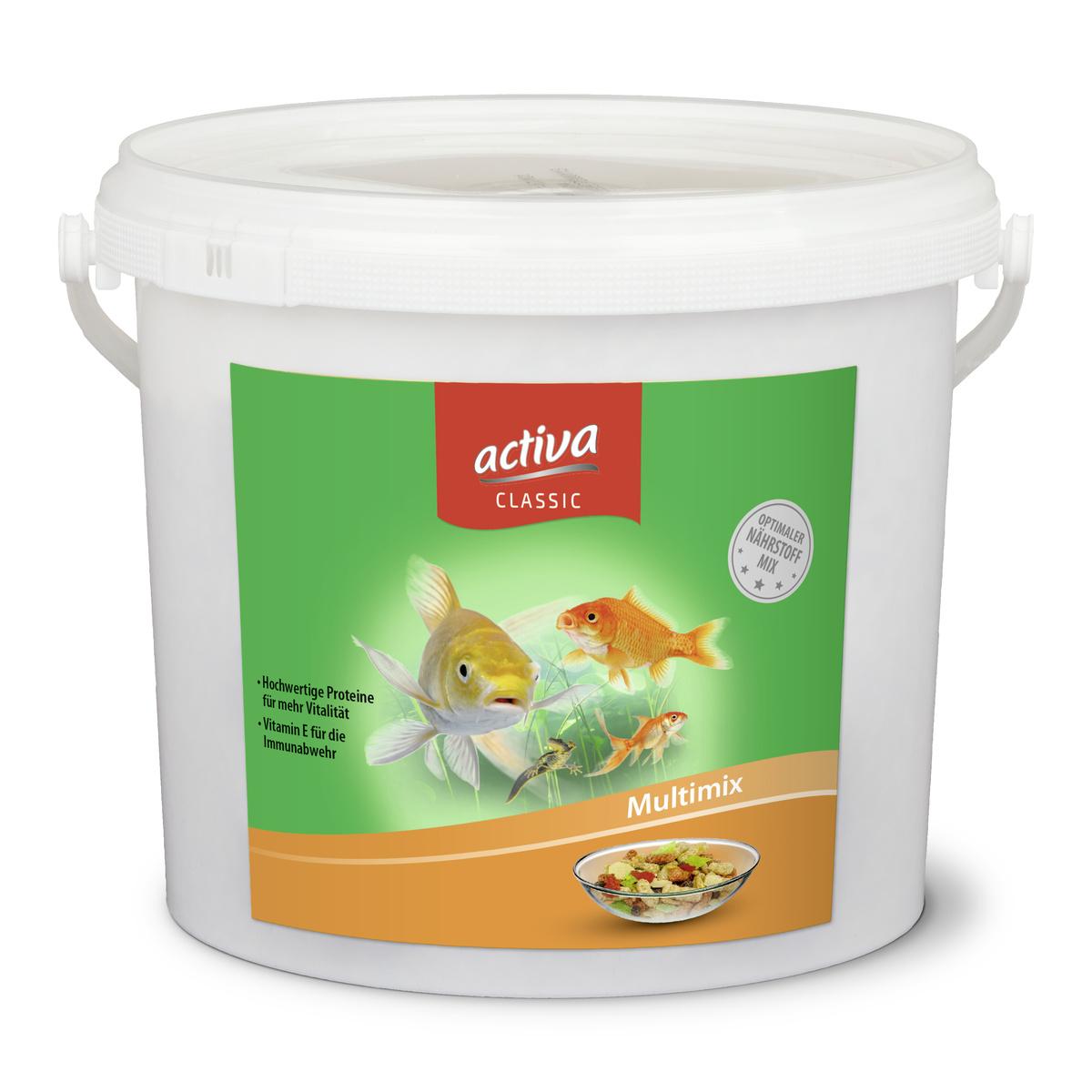 activa CLASSIC Multimix Hauptfutter für Zierfische im Gartenteich