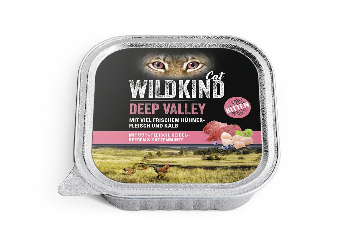 WILDKIND Katze Nassnahrung Kitten Deep Valley Huhn Kalb