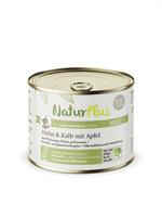 NaturPlus Katze Adult Huhn & Kalb mit Apfel Nassnahrung
