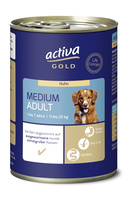 activa GOLD Nassnahrung Hund Medium Adult Huhn