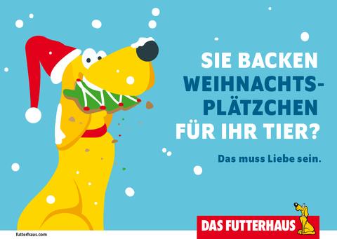 Sie backen Weihnachtsplätzchen für Ihr Tier?