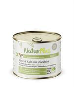 NaturPlus Adult Pute & Kalb mit Zucchini Hund Nassnahrung