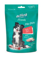 activa Friends Mini Sticks Huhn & Obst Snack für Hunde