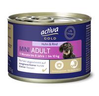 activa GOLD Nassnahrung Hund Mini Adult Huhn & Rind