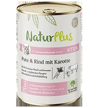 NaturPlus Katze Kitten Pute und Rind mit Karotte