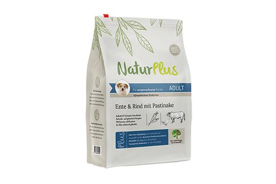 NaturPlus Hund Trockennahrung Adult Ente Rind Pastinake