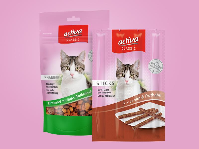 DAS FUTTERHAUS activa CLASSIC Katze Snacks