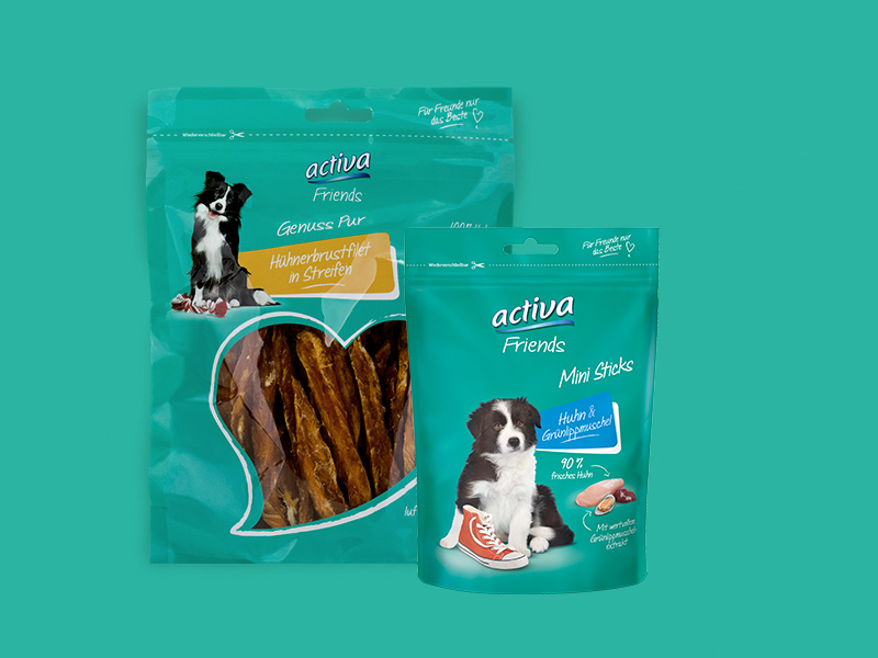 DAS FUTTERHAUS activa Friends Hund Snacks