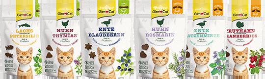 [Translate to Österreich:] Gimborn GimCat Soft und Crunchy Snacks bei DAS FUTTERHAUS
