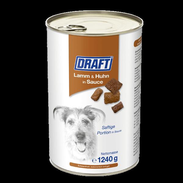DRAFT Hund Lamm und Huhn in Sauce