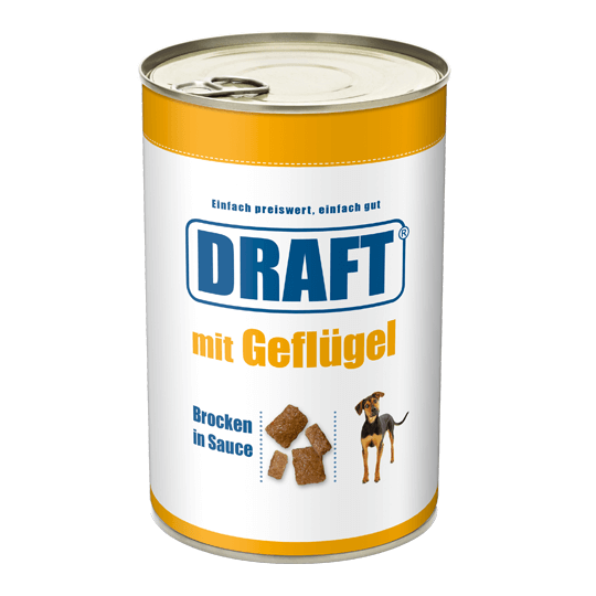 DRAFT Hund Gefluegel in Sauce