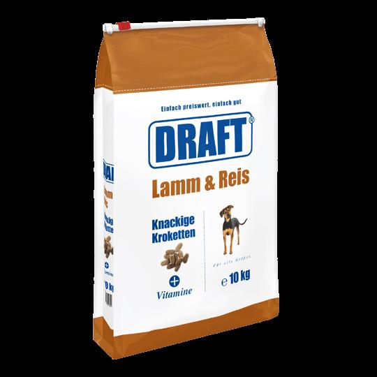 DRAFT Hundetrockenfutter Lamm-Reis