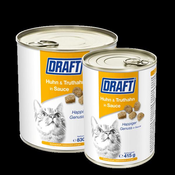 DRAFT Katze Huhn Truthahn in Sauce