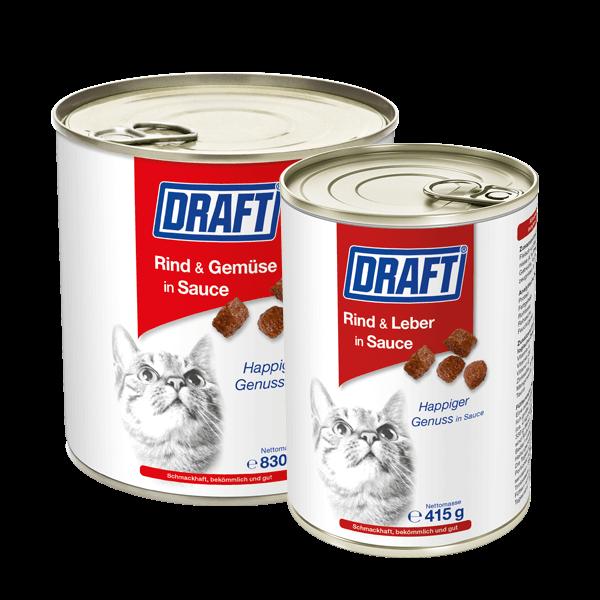 DRAFT Katze Rind Leber in Sauce