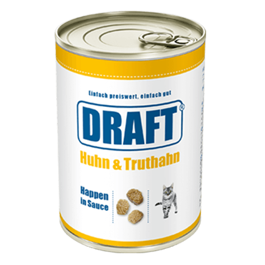 DRAFT Katzennassnahrung Huhn-Truthahn in Sauce