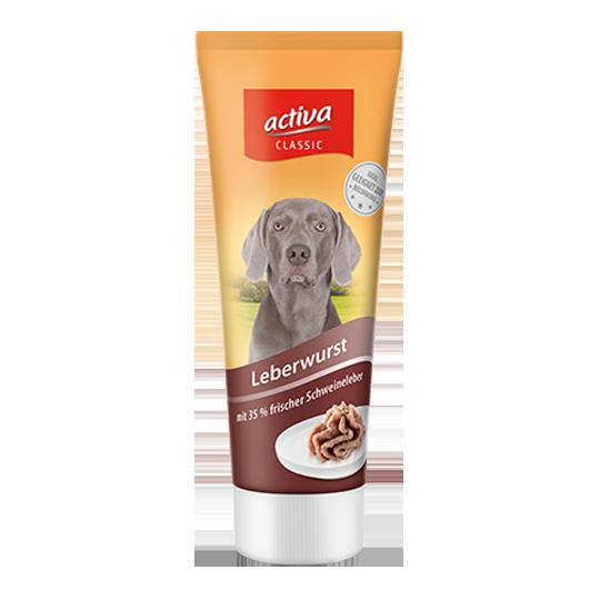 activa CLASSIC Hund Tube Leberwurst