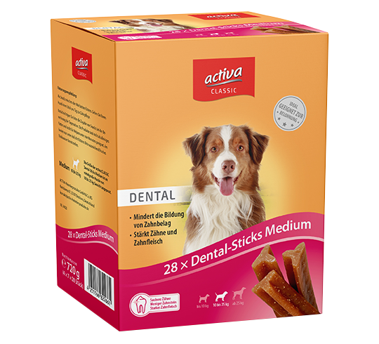 activa CLASSIC Snacks Hund Dental-Sticks Medium