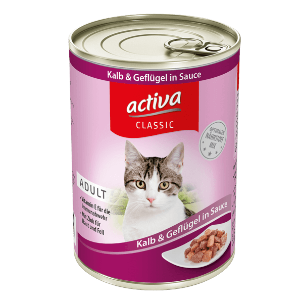 activa CLASSIC Katze Kalb Gefluegel