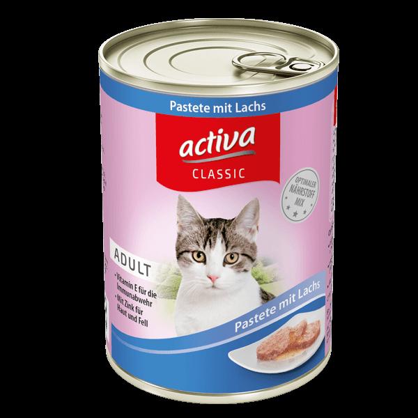 activa CLASSIC Katze Adult Dose Pastete mit Lachs