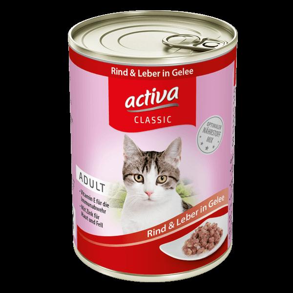 activa CLASSIC Katze Rind Leber