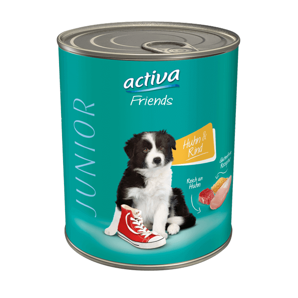 activa Friends Hund Nassfutter Junior Huhn & Rind
