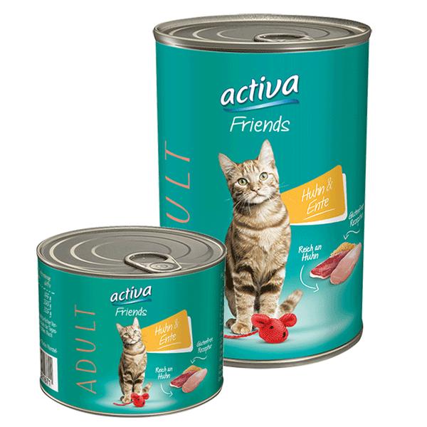 activa Friends Katze Adult Huhn und Ente
