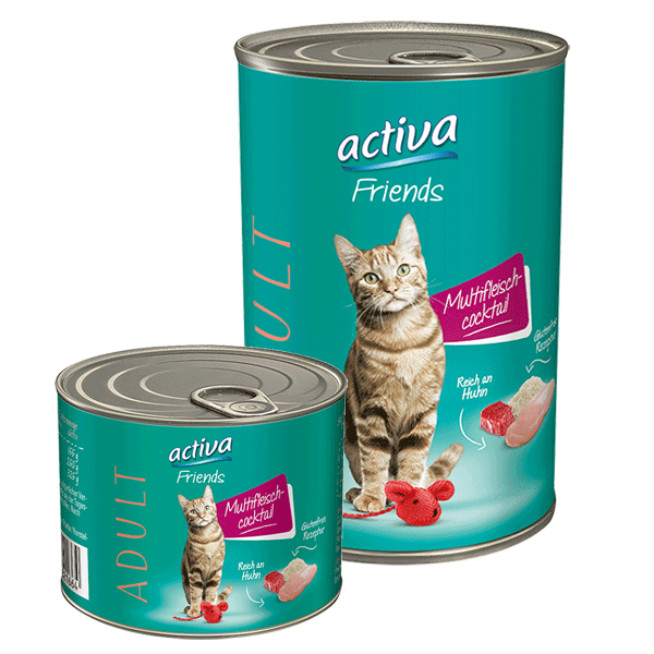 activa Friends Katze Adult 200g + 400g Multifleisch-Cocktail