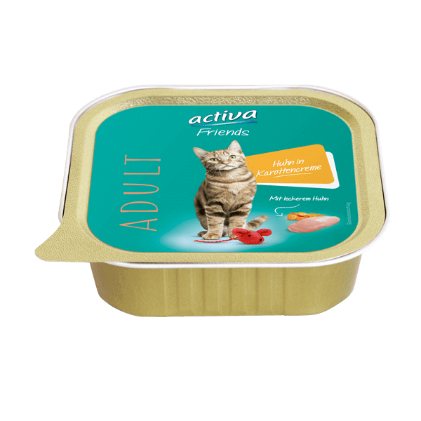 activa Friends Katze Adult Huhn in Karottencreme