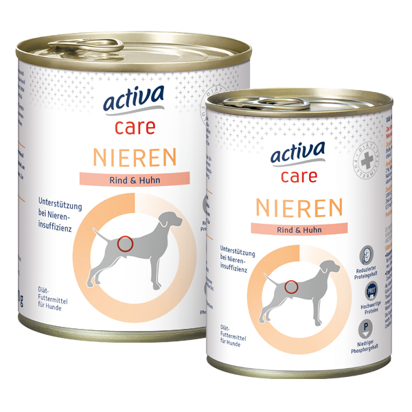 activa care Hund Nassnahrung Adult Nieren Huhn