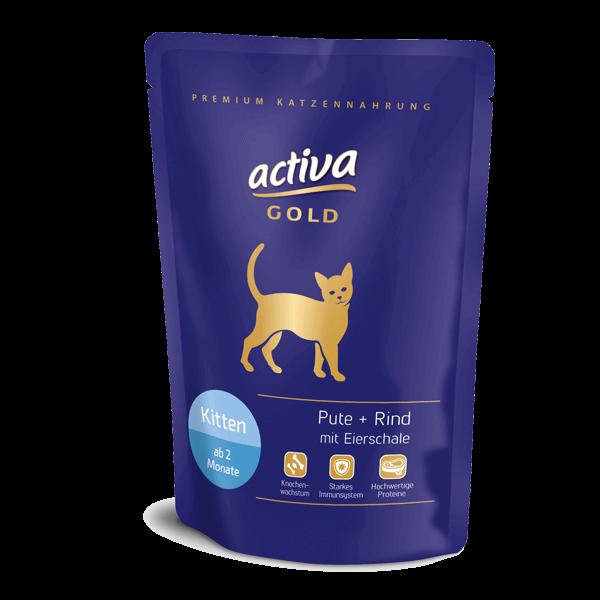Activa Gold Kitten Pouch