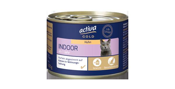 activa gold Katze Nassnahrung Indoor Huhn