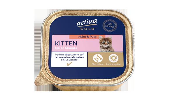 Activa Gold Katze Nassnahrung Kitten Huhn Pute