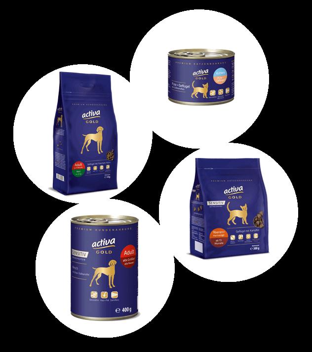 activa Gold Hund und Katze Uebersicht