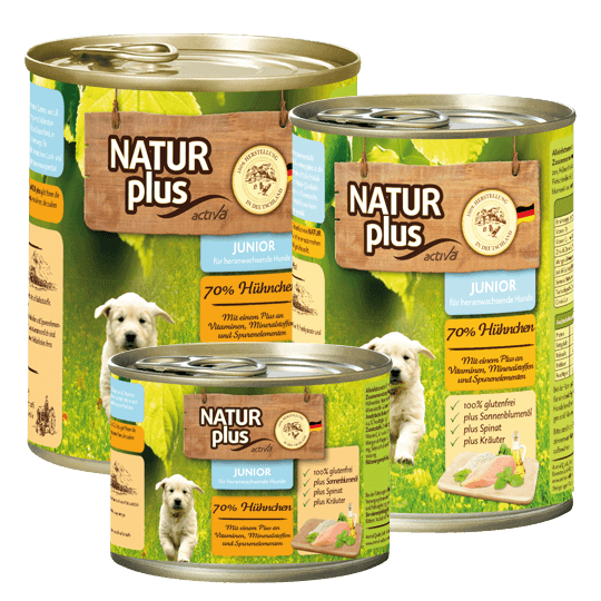 Natur plus Hund Junior Huhn