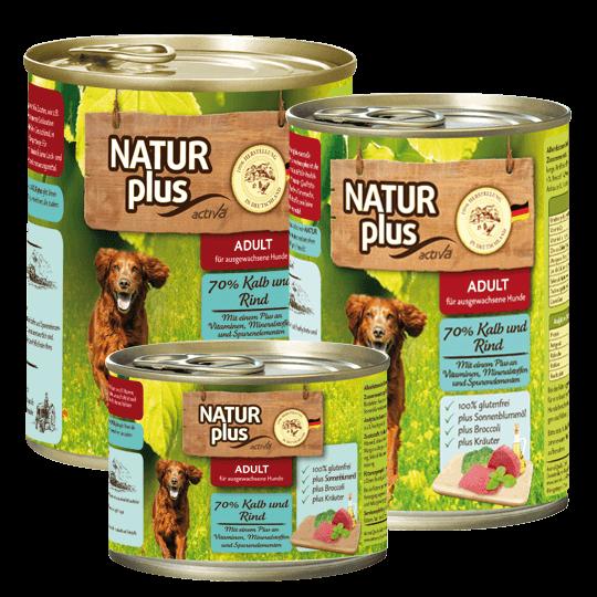 Natur plus Hund Kalb und Rind