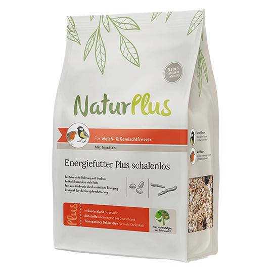 NaturPlus Energiefutter Plus schalenlos – Mit Insekten
