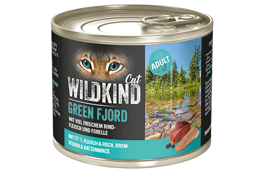 WILDKIND Cat GREEN FJORD Adult Rind und Forelle