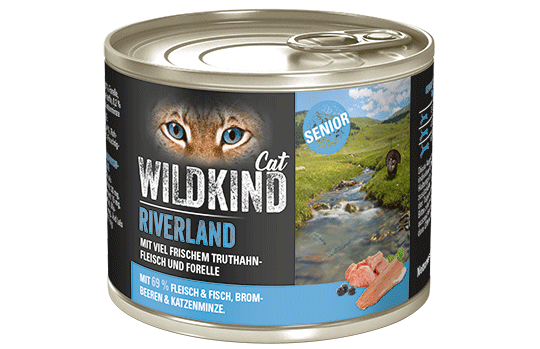 WILDKIND Cat RIVERLAND Senior Truthahn und Forelle